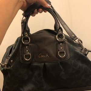 Coach bag in great condition metallic gray